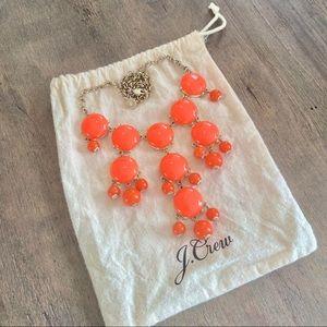 J.Crew Orange Bubble Necklace
